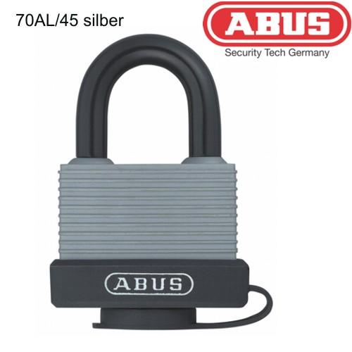 Vorhaengeschloesser-ABUS-70AL-45-silber-NEU-Sonderpreis