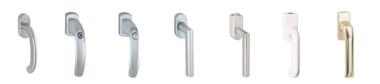 fenstergriffe aus kunststoff aluminium messing edelstahl wagner sicherheit. Black Bedroom Furniture Sets. Home Design Ideas