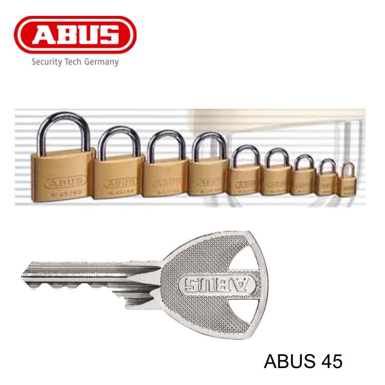 ABUS Vorhangschloss Messing 45//30 4er Set gleichschließend Kellerschloss