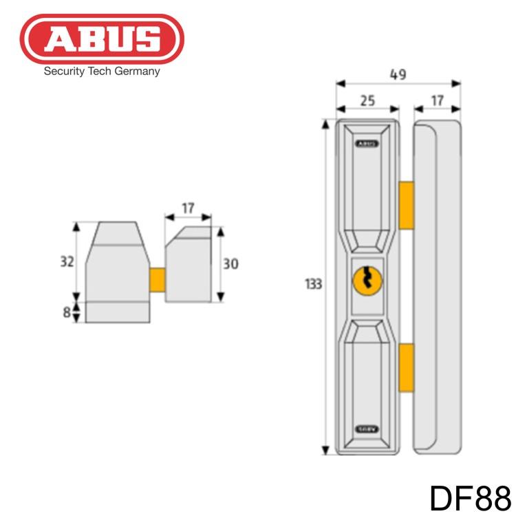 dachfenstersicherung abus df88 weiss braun wagner sicherheit. Black Bedroom Furniture Sets. Home Design Ideas
