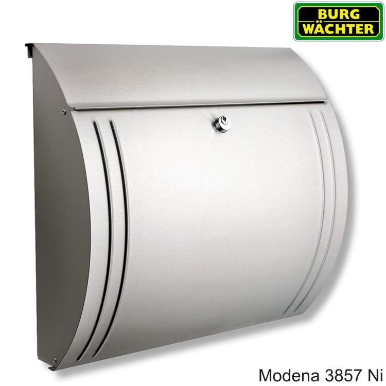 briefkasten burg w chter modena 3857 ni edelstahl wagner sicherheit. Black Bedroom Furniture Sets. Home Design Ideas
