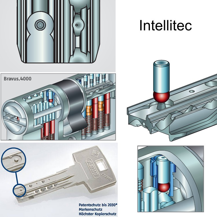 40//80 Abus EC660 Profilzylinder Schließzylinder Knaufzylinder viele Schlüssel