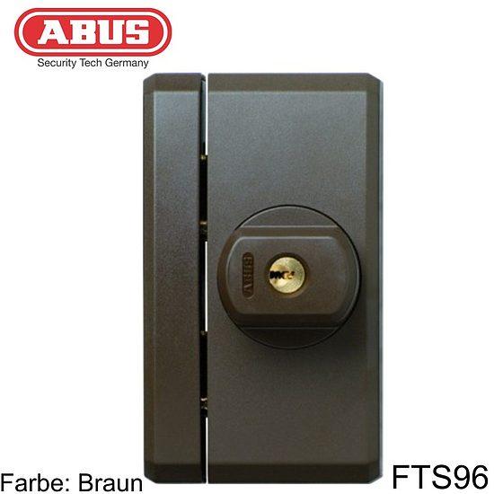 fenstersicherung abus fts96 braun weiss wagner sicherheit. Black Bedroom Furniture Sets. Home Design Ideas