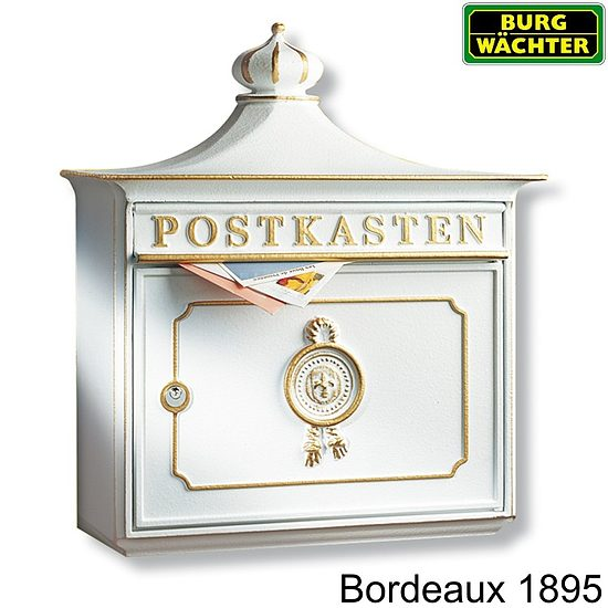 briefkasten burg w chter bordeaux 1895 vers farben wagner sicherheit. Black Bedroom Furniture Sets. Home Design Ideas