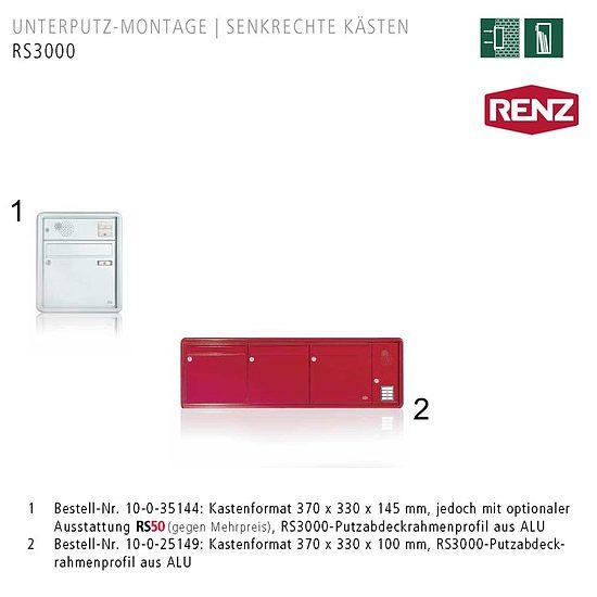 briefkasten unterputz rs3000 renz wagner sicherheit. Black Bedroom Furniture Sets. Home Design Ideas