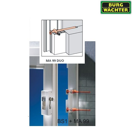 fenstersicherung burg w chter blocksafe bs 2 wagner sicherheit. Black Bedroom Furniture Sets. Home Design Ideas