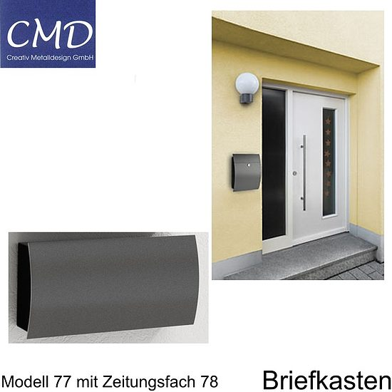 cmd briefkasten anthrazit 77 wagner sicherheit. Black Bedroom Furniture Sets. Home Design Ideas