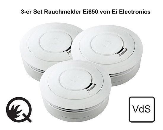 3er set rauchmelder ei electronics ei650 wagner sicherheit. Black Bedroom Furniture Sets. Home Design Ideas