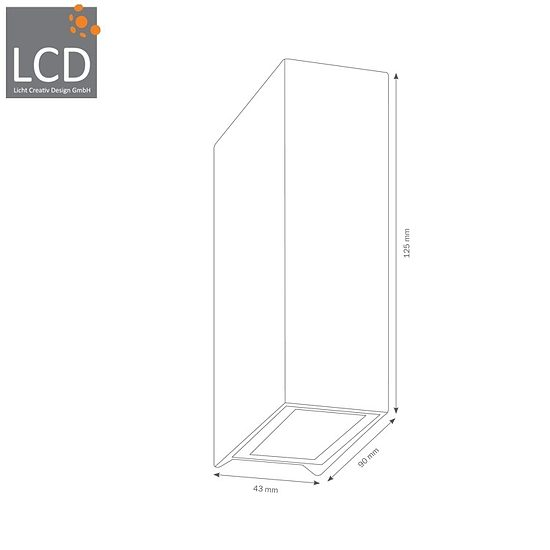 Bild 2 - LCD Up & Down Wandleuchte LED 5020