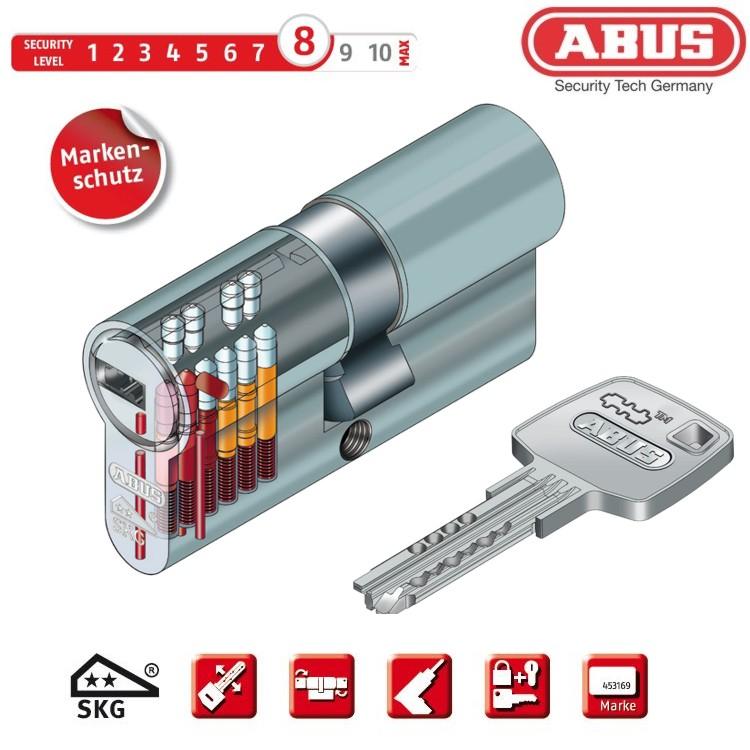 ABUS EC660 Profilzylinder 55//55 mit wählbarer Schlüsselanzahl Sicherungskarte