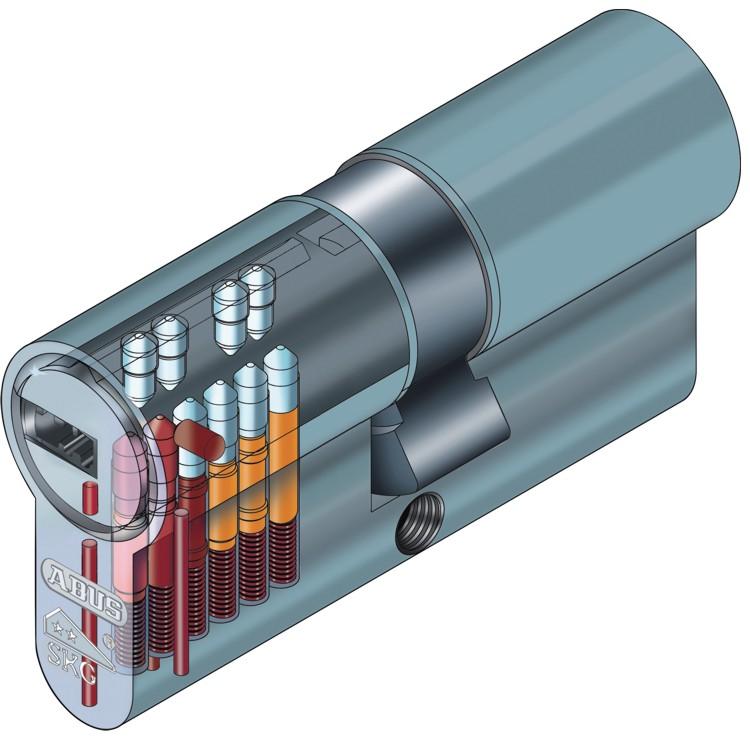 ABUS EC550 Profil-Doppelzylinder L/änge mit 10 Schl/üssel 30//50mm a//b c=80mm