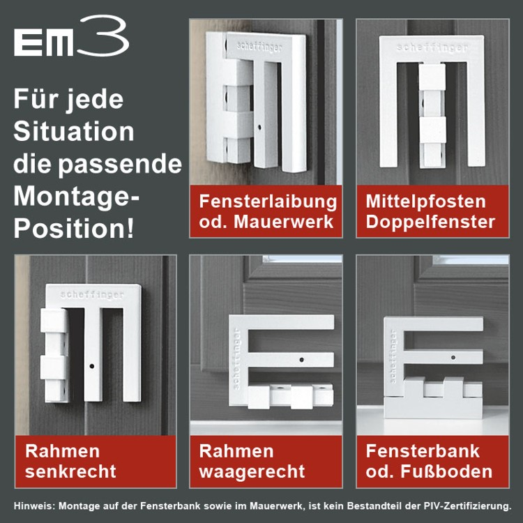 em3 der riegel fenstersicherung wagner sicherheit. Black Bedroom Furniture Sets. Home Design Ideas