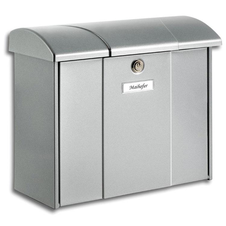briefkasten burg w chter olymp 916 weiss silber wagner sicherheit. Black Bedroom Furniture Sets. Home Design Ideas