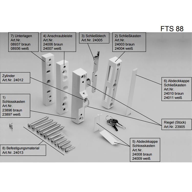 2 Stück ABUS FTS 88 FTS88 weiss Fenstersicherung VdS geprüft