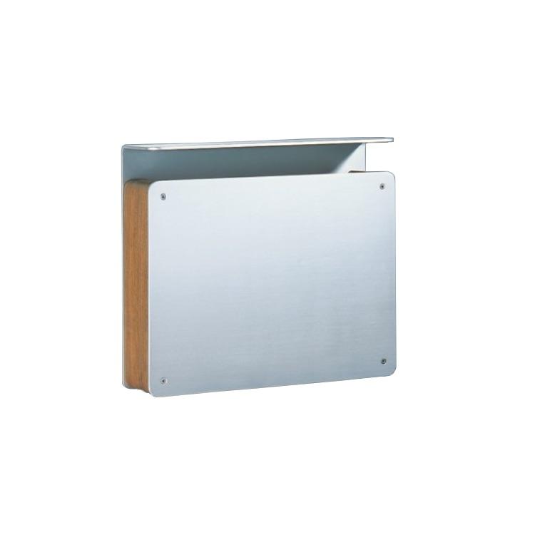 Briefkasten Freistehend Holz ~ Briefkasten serafini Aluminium Holz 30 7110 07  wagner sicherheit de