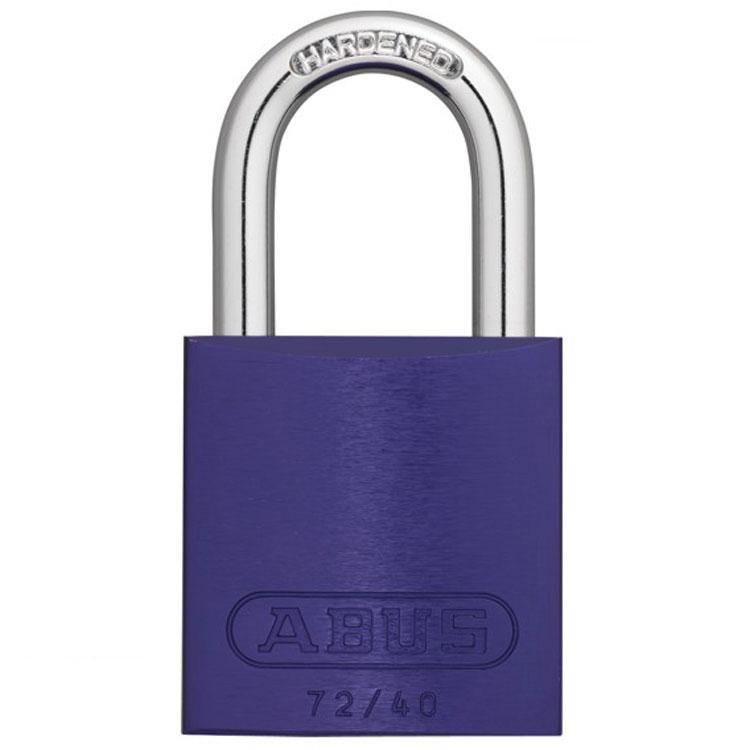 Vorhängeschloss Vorhangschloss 50 mm Hangschloss Violett mit drei Schlüssel