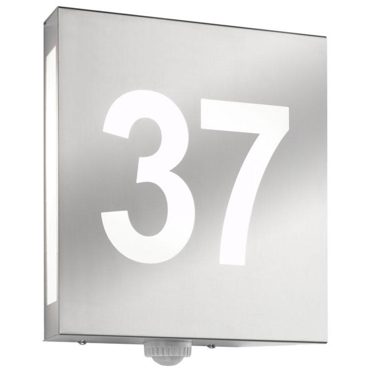 au enleuchte cmd 27 hn aqua matteo mit hausnummer wagner sicherheit. Black Bedroom Furniture Sets. Home Design Ideas