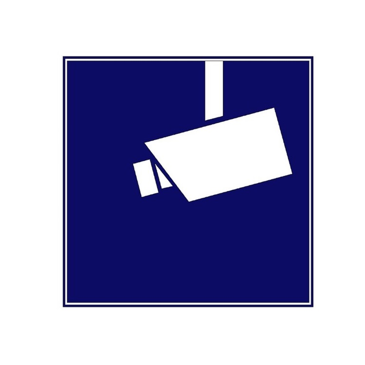 aufkleber video berwachung 3er packung wagner sicherheit. Black Bedroom Furniture Sets. Home Design Ideas