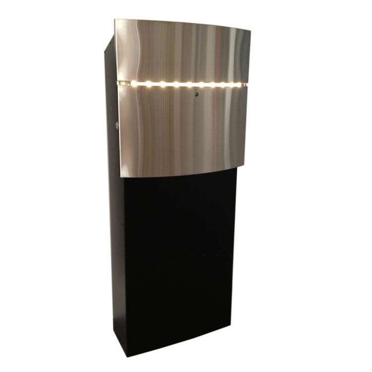 briefkasten safepost 128 led wagner sicherheit. Black Bedroom Furniture Sets. Home Design Ideas