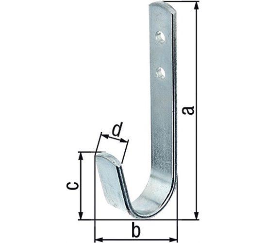 Wandhaken simplement a.30mm Sta verz.h .90 mm Gah