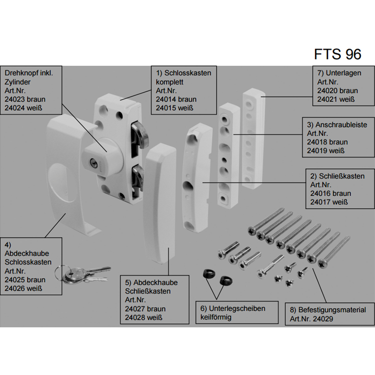 ersatzteile f r fenstersicherung abus fts96 wagner. Black Bedroom Furniture Sets. Home Design Ideas