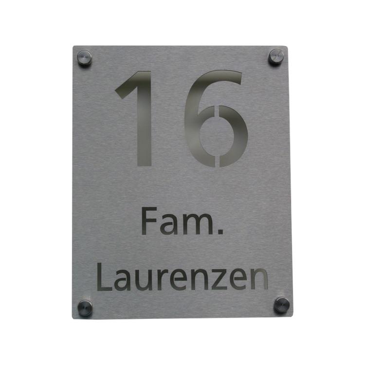 hausnummer edelstahl lasercut no 7a 20x25 cm wagner. Black Bedroom Furniture Sets. Home Design Ideas
