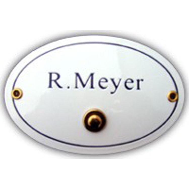namenschild oval 15 x 10 klingelknopf 3005 k wagner sicherheit. Black Bedroom Furniture Sets. Home Design Ideas