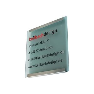 Schild keilbach glasnost.display.glass
